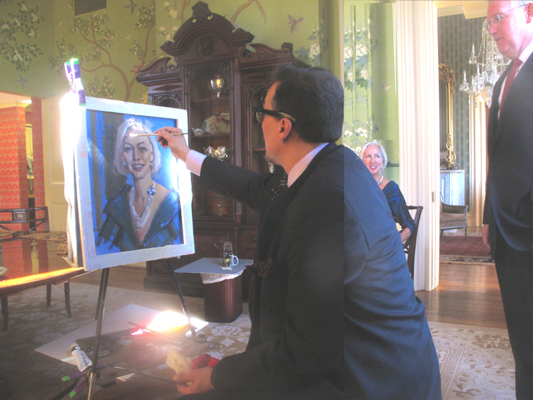 Pena Paints Portrait